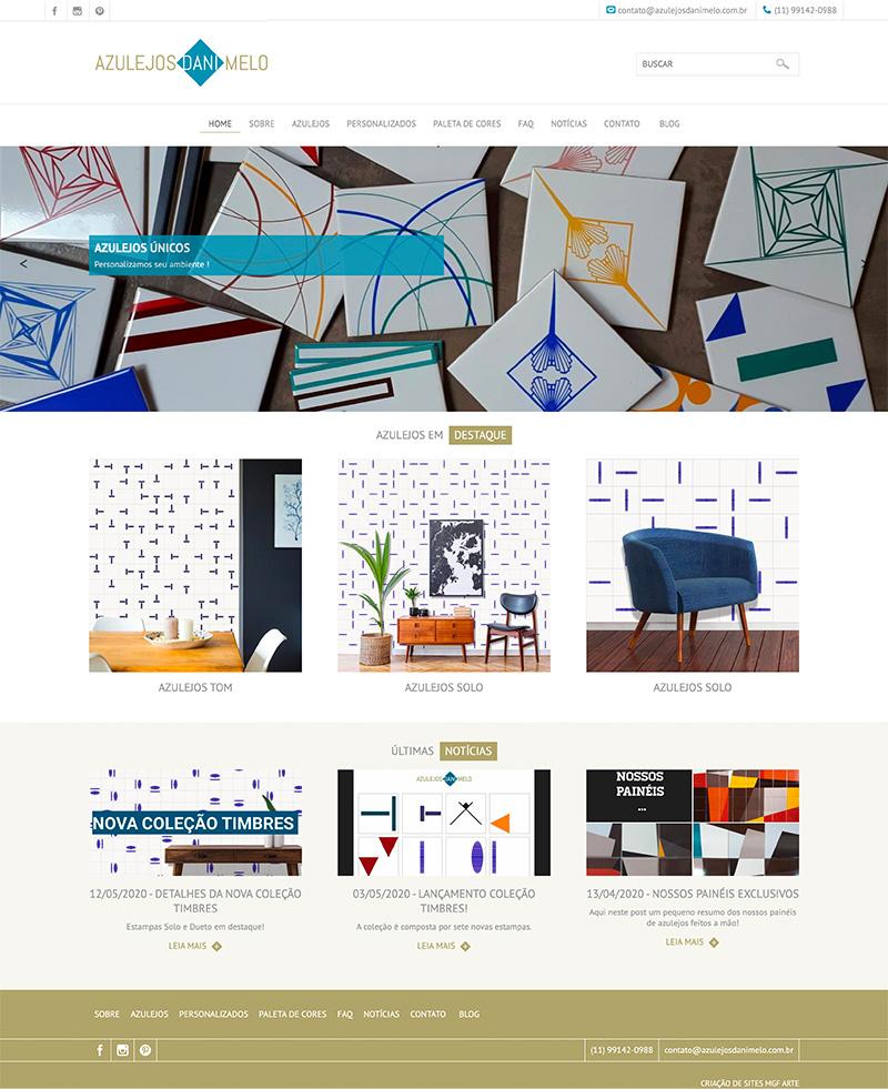 Criação de Site Azulejos